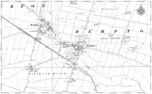 Old map of Bempton